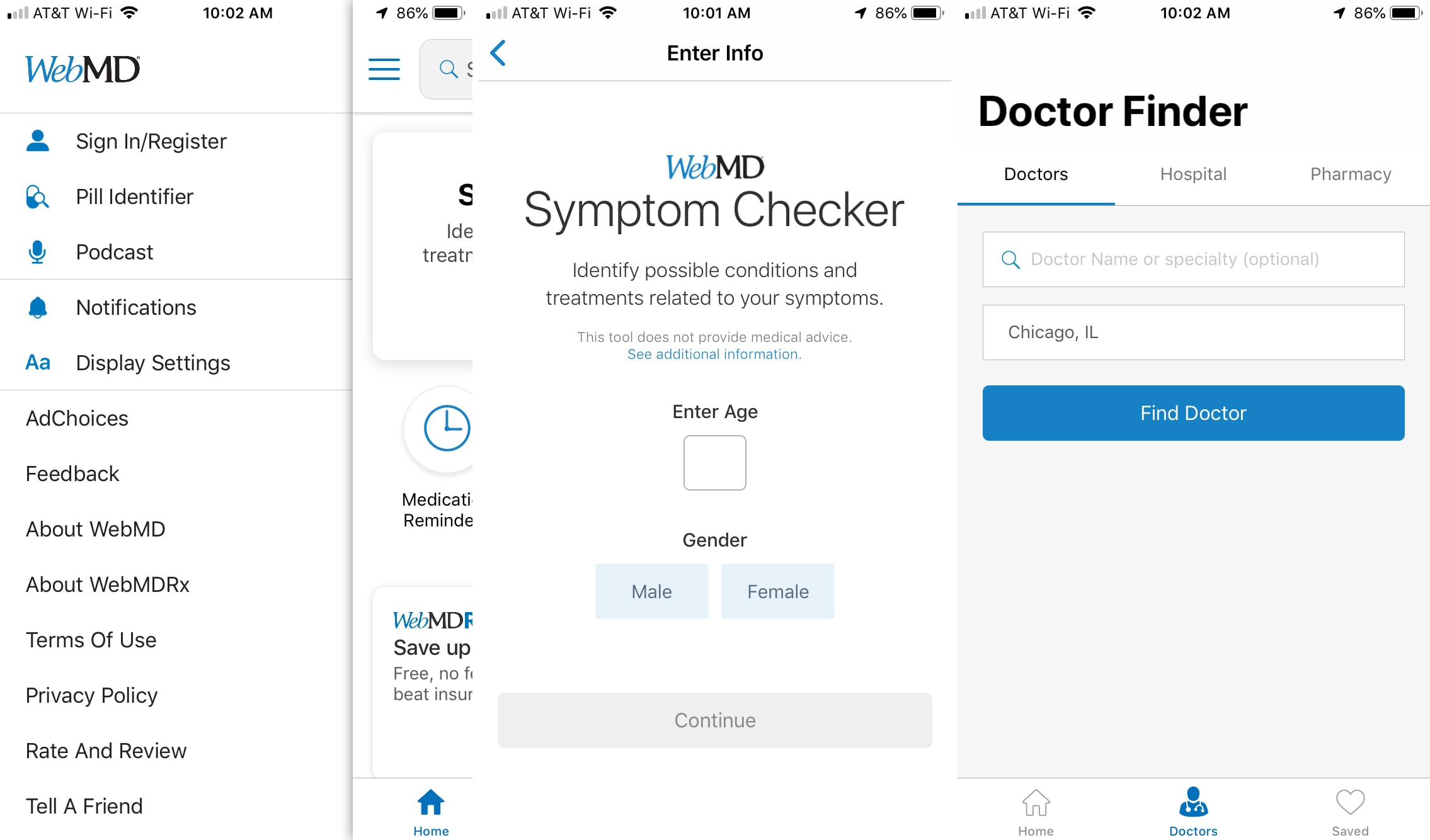 WebMD aplicación iPhone