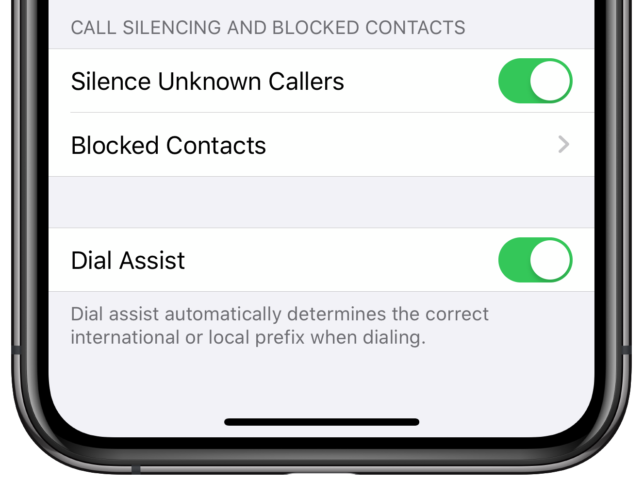 Silencing unknown callers on iPhone in iOS 13