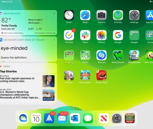 iPad Today View Home Screen