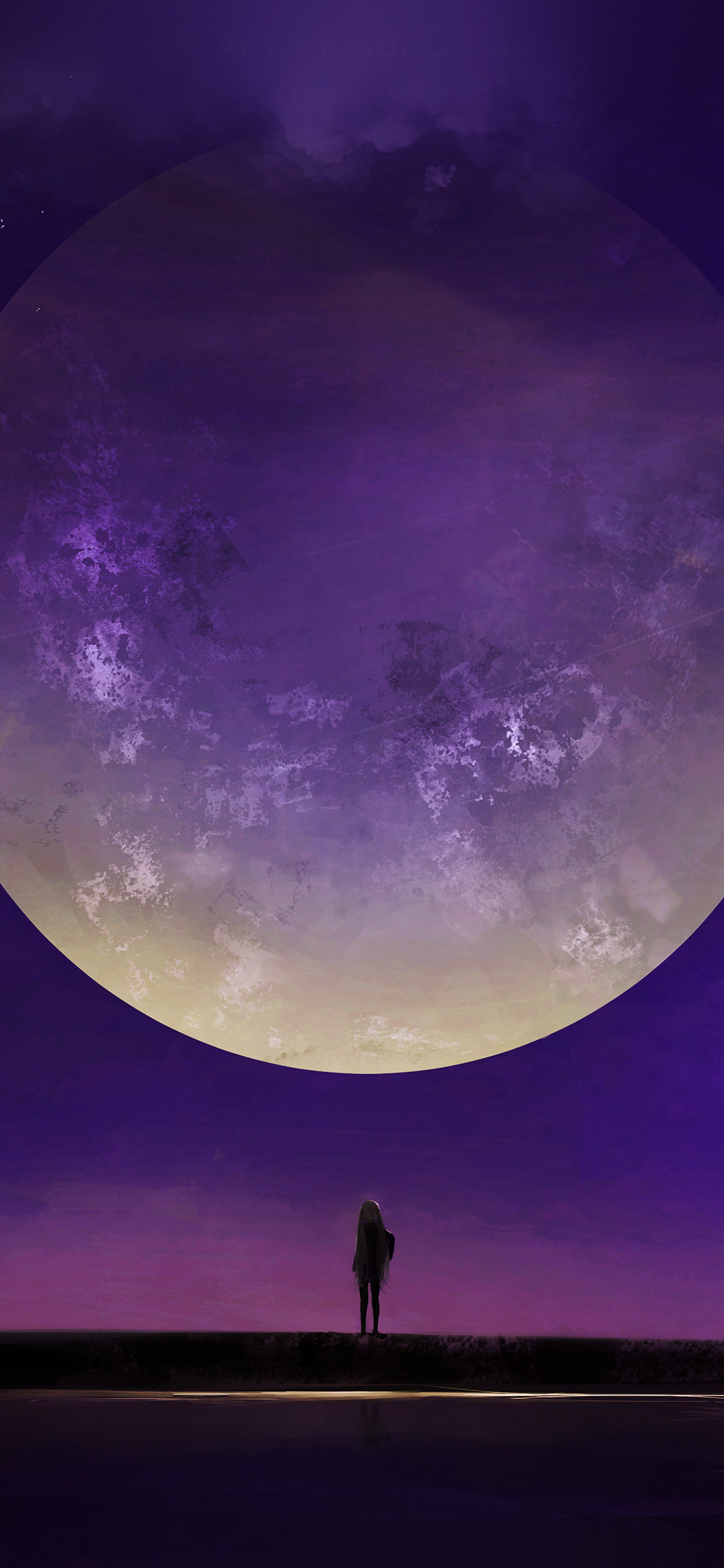 purple moon iphone wallpaper