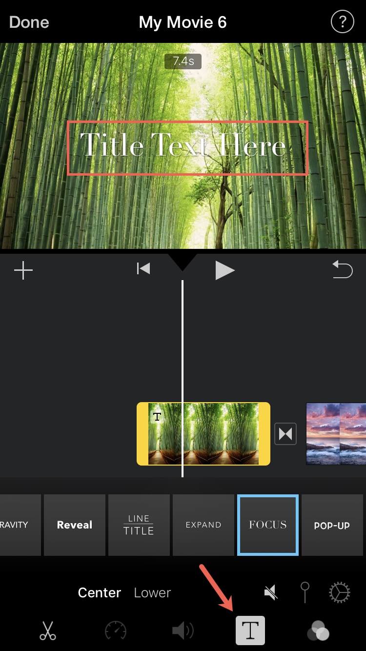 How to add and edit an iMovie title on Mac and iOS