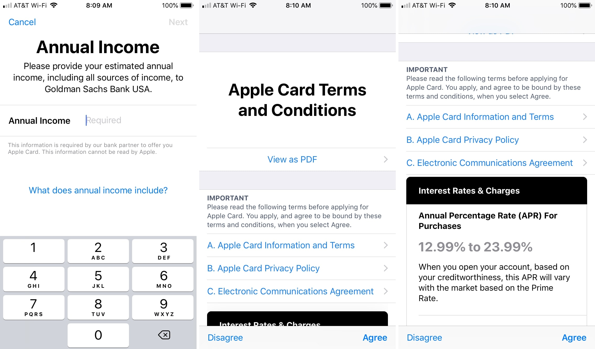 Apply for Apple Card Income and Terms
