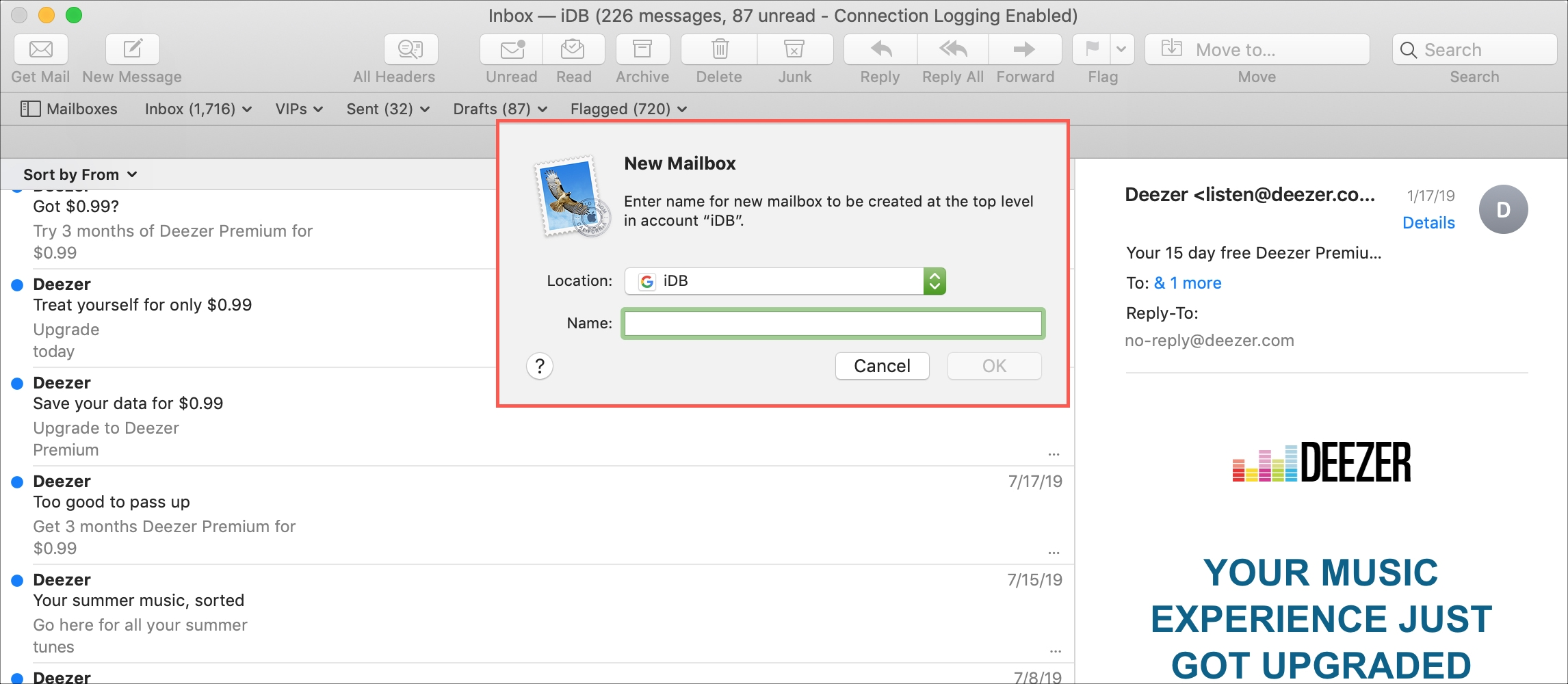 Create New Mailbox Mac Mail