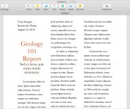 Document with Columns in Pages on Mac