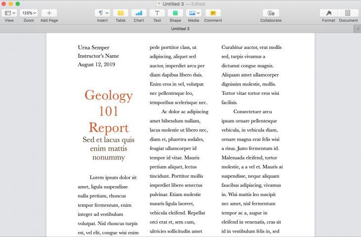 Comment travailler facilement avec les colonnes de Pages sur Mac 1
