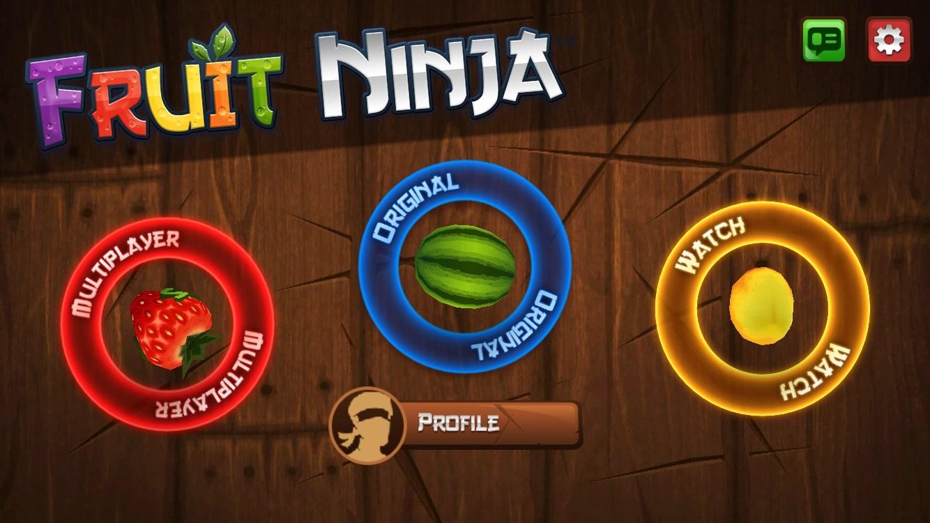 Fruit Ninja.Main Screen