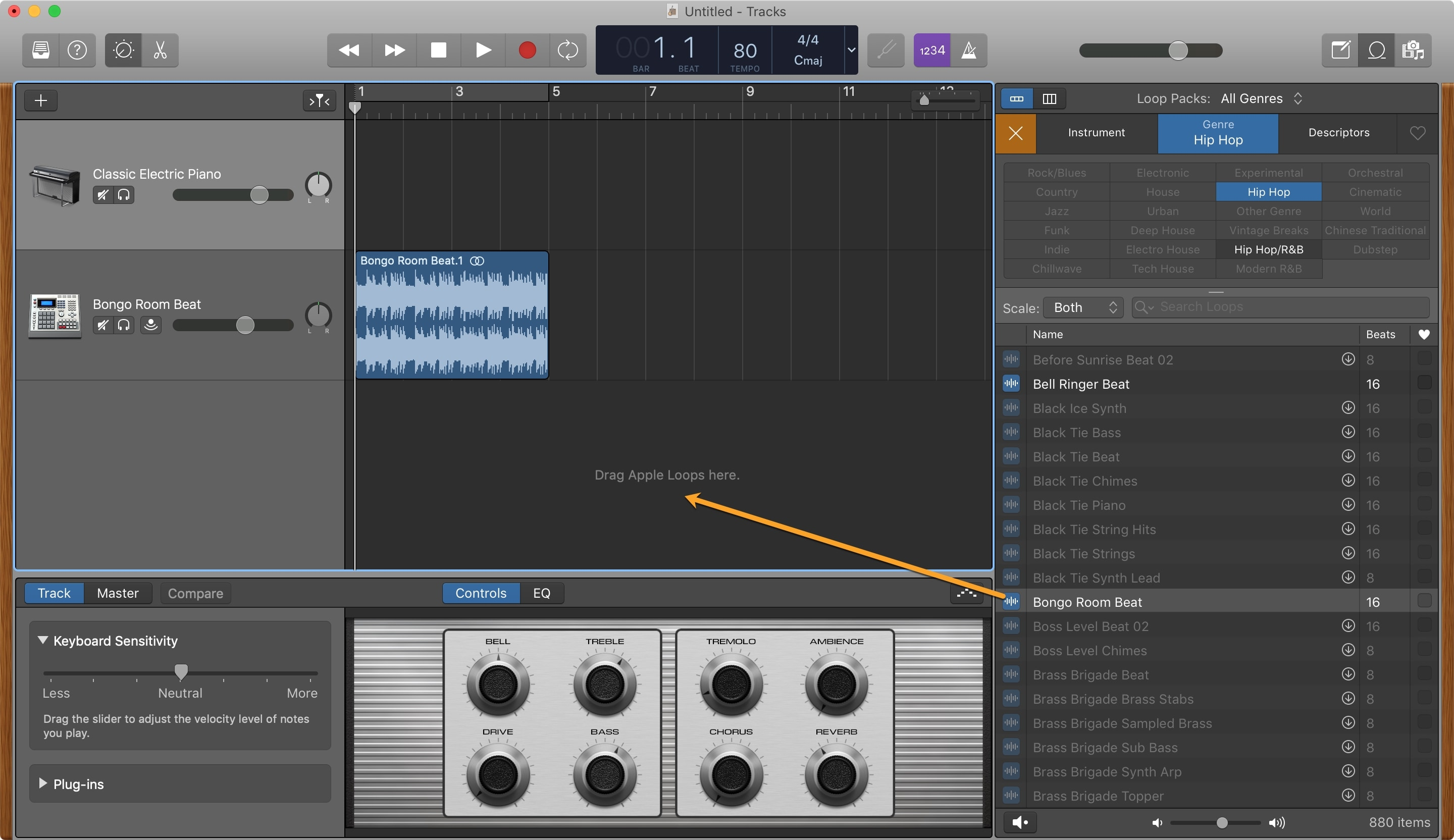 GarageBand Add Apple Loops Mac