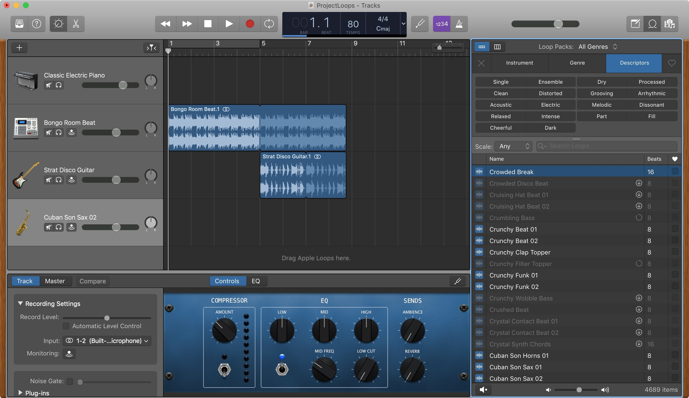 GarageBand Add More Apple Loops Mac