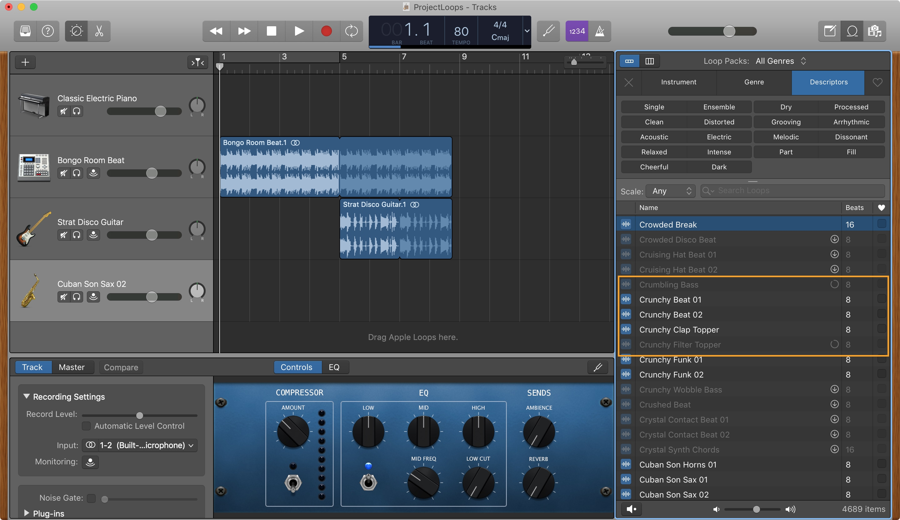 GarageBand Descargando Apple Loops Mac