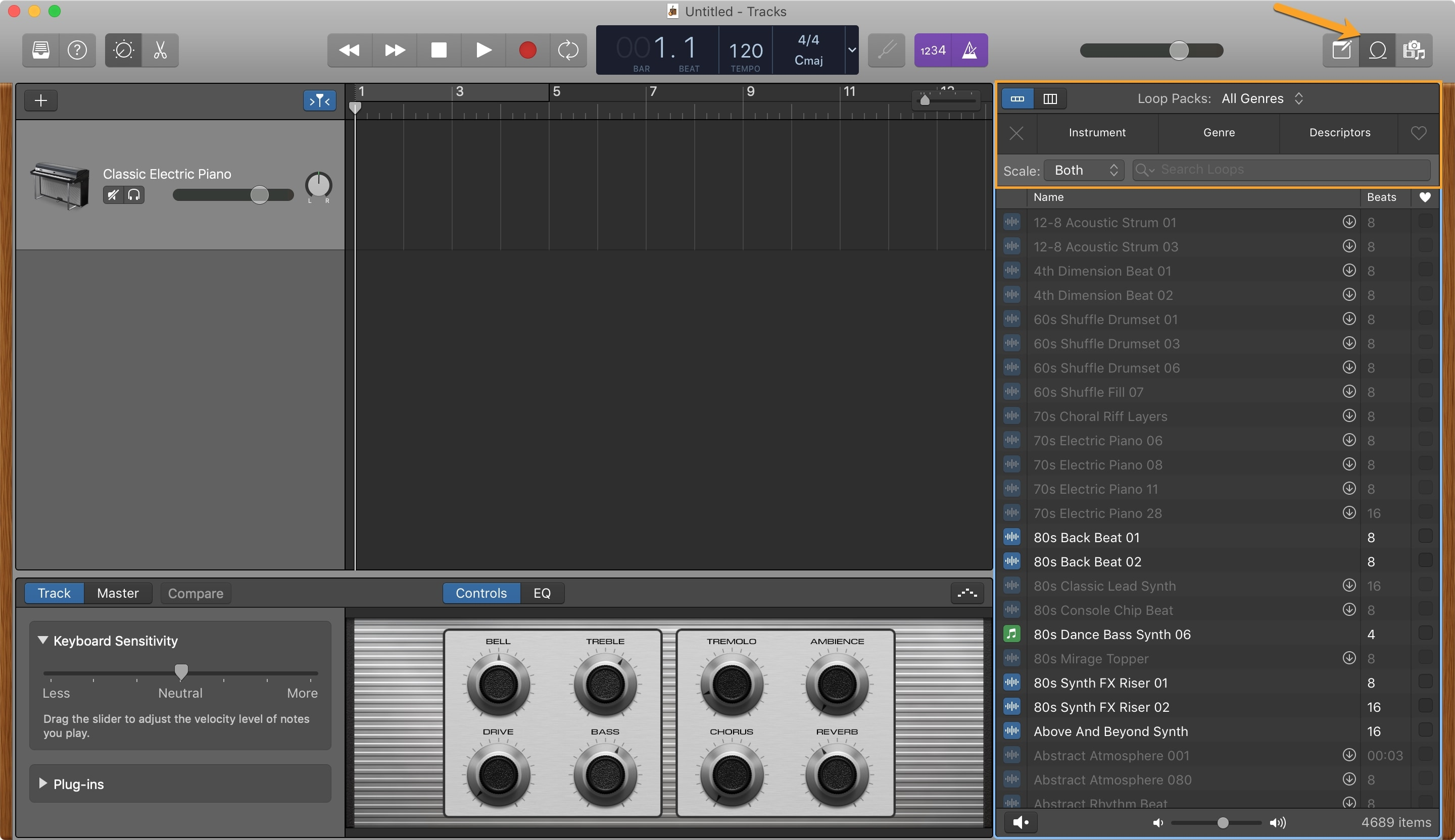GarageBand Loops Browser Mac