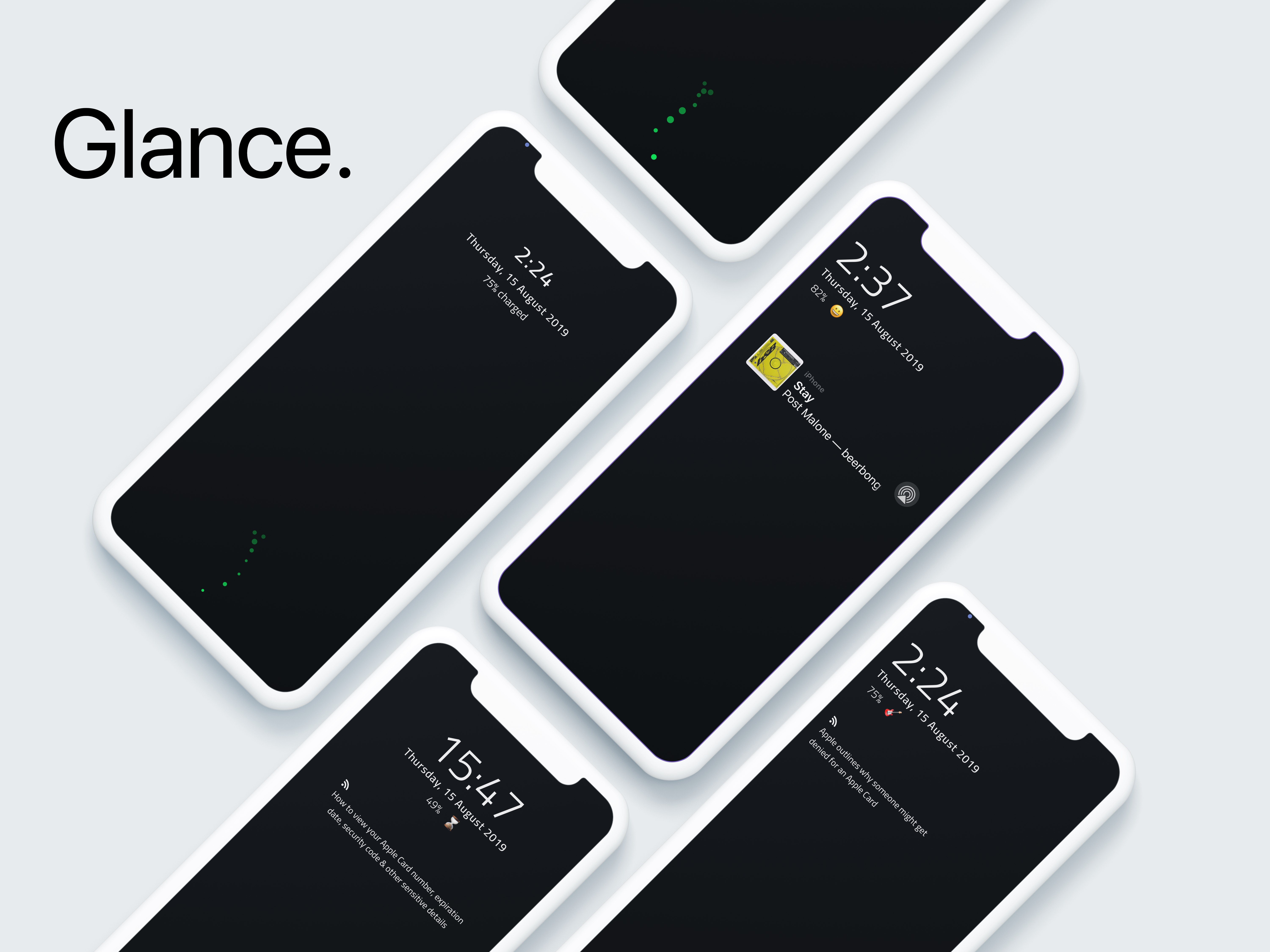 Glance brings a new charging animation and battery data to