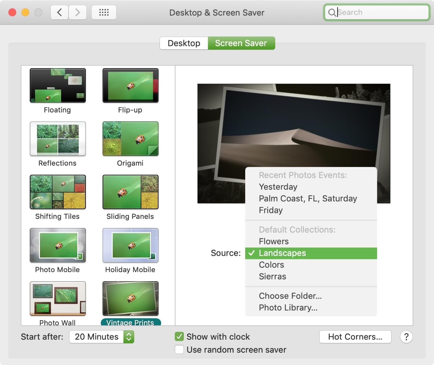 Mac System Preferences Screen Saver Source