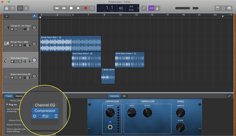Plugins Buttons GarageBand Mac