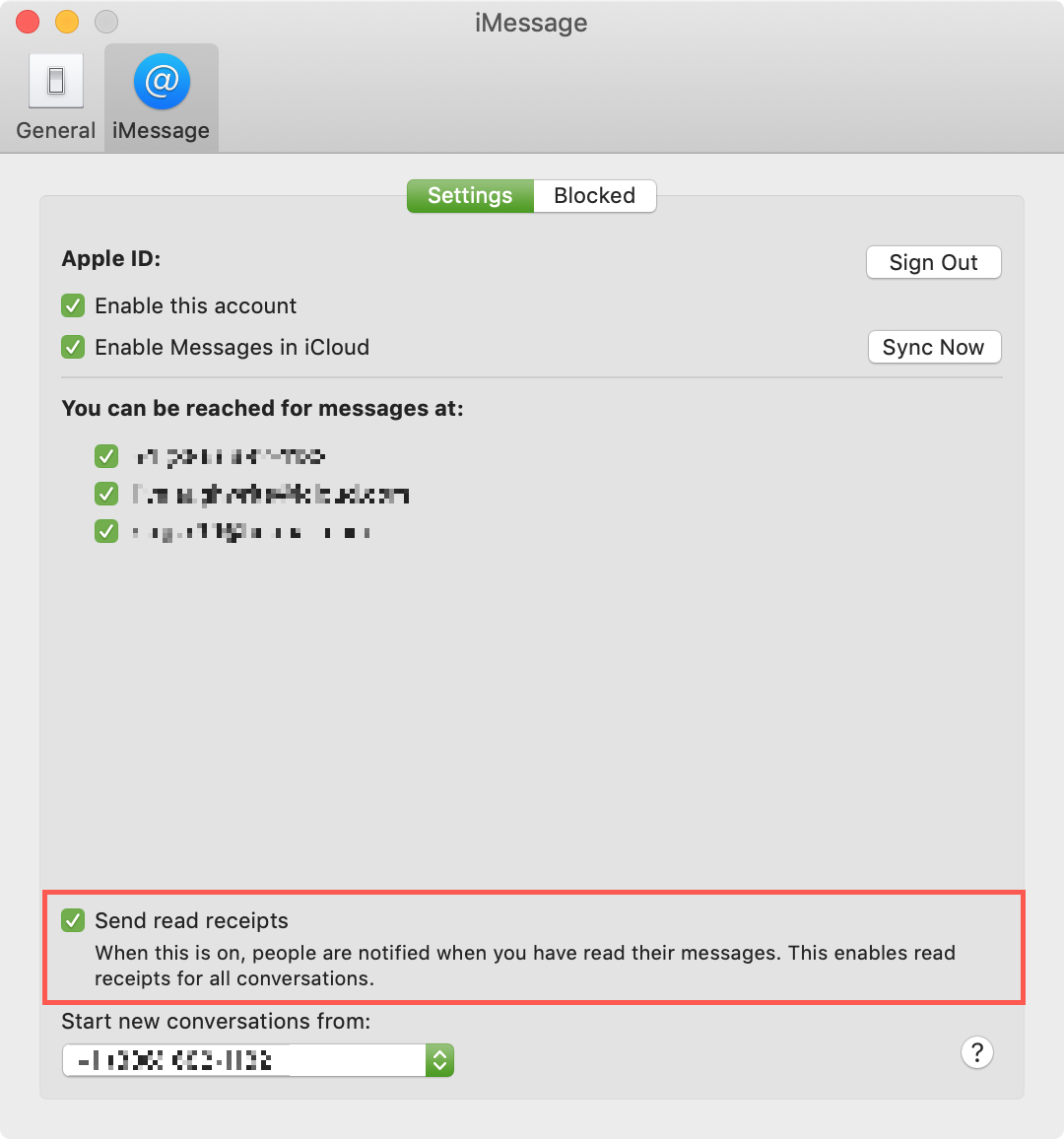 Send Read Receipts All Contacts Mac Messages