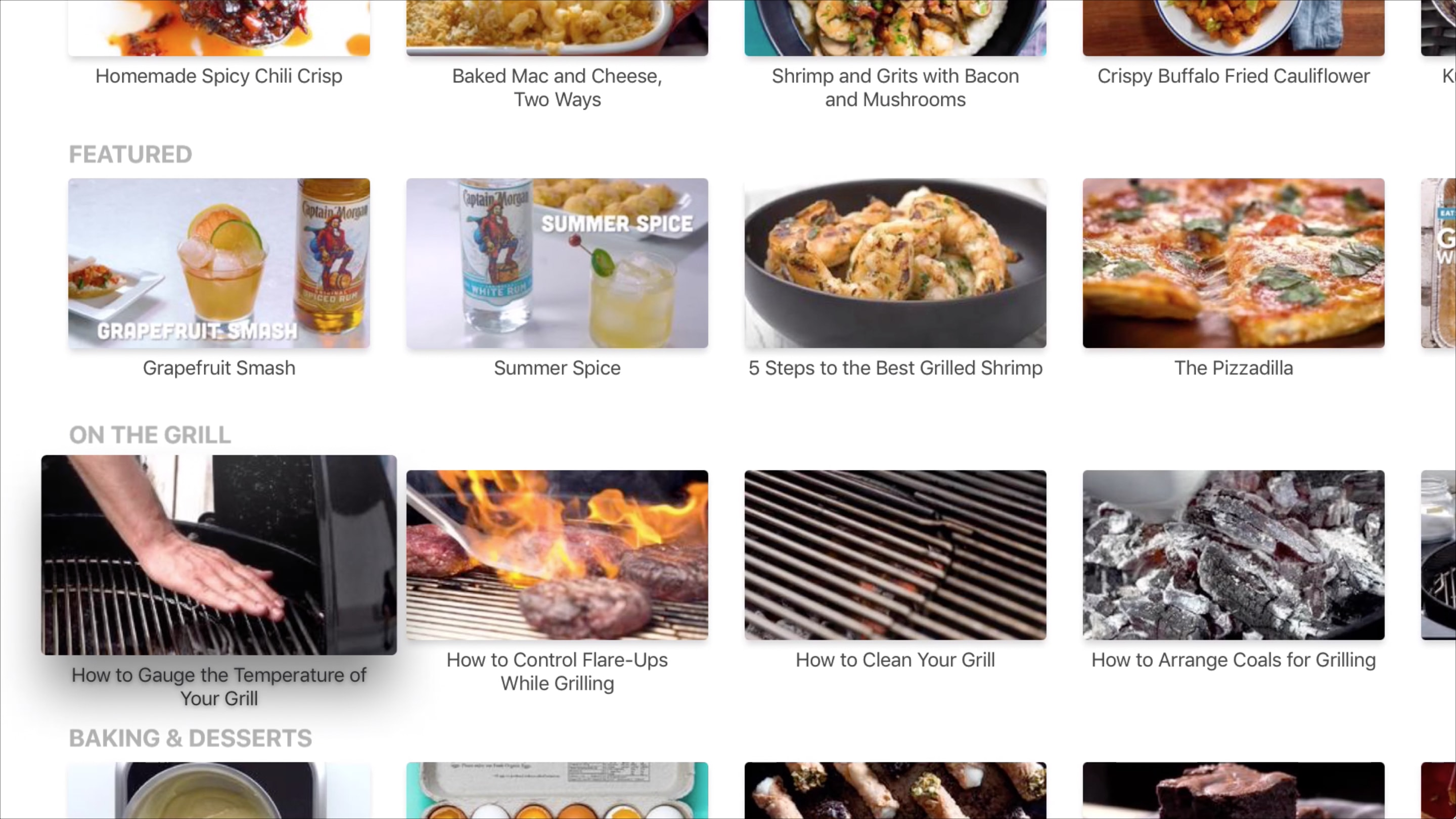 Serious Eats app on Apple TV