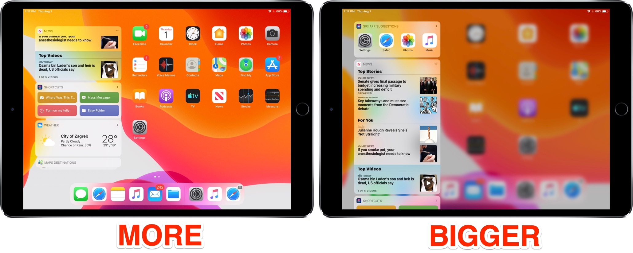 How to adjust iPad icon size on the Home screen