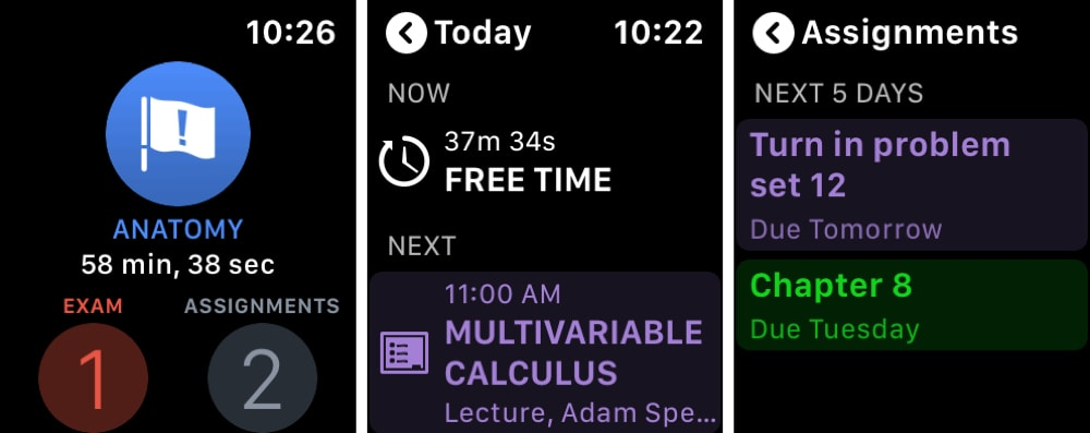 iStudiez Pro Legendary Planner Apple Watch