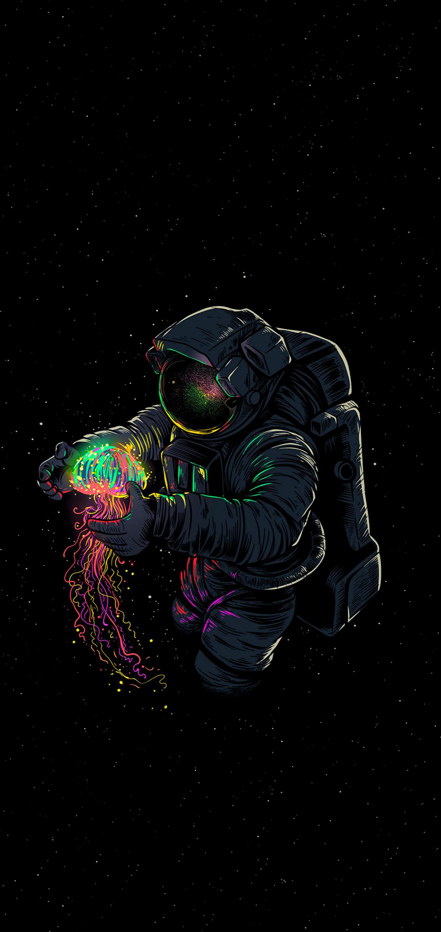 iphone oled wallpaper idownloadblog astronaut jelly fish