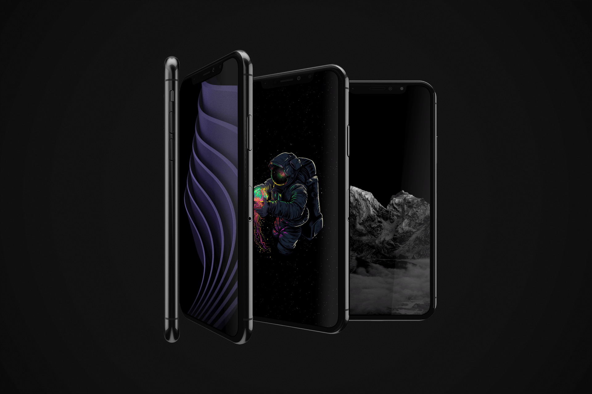 True Black And OLED Optimized Wallpapers For IPhone XS Pack 2