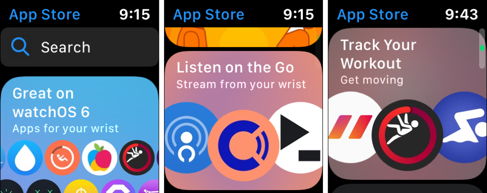 Apple Watch App Store Browse