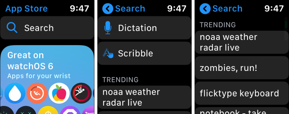 Apple Watch App Store Search