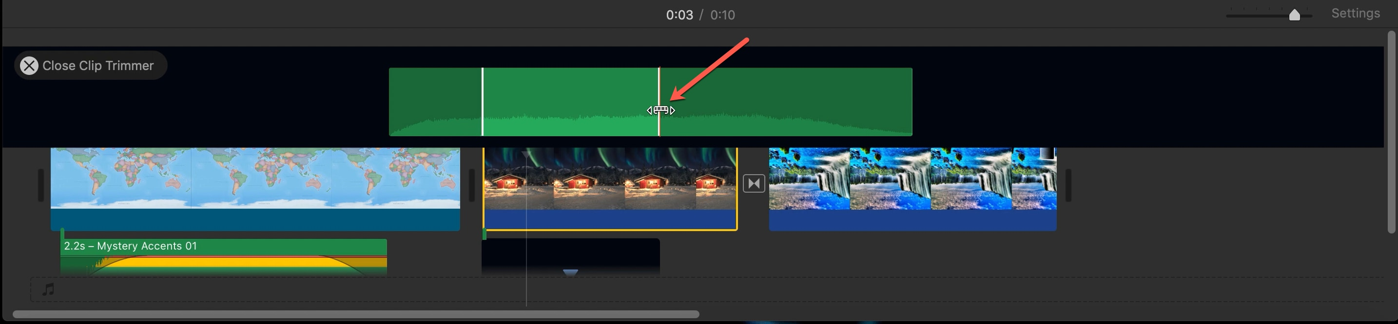 Clip Trimmer Film Audio Clip iMovie Mac
