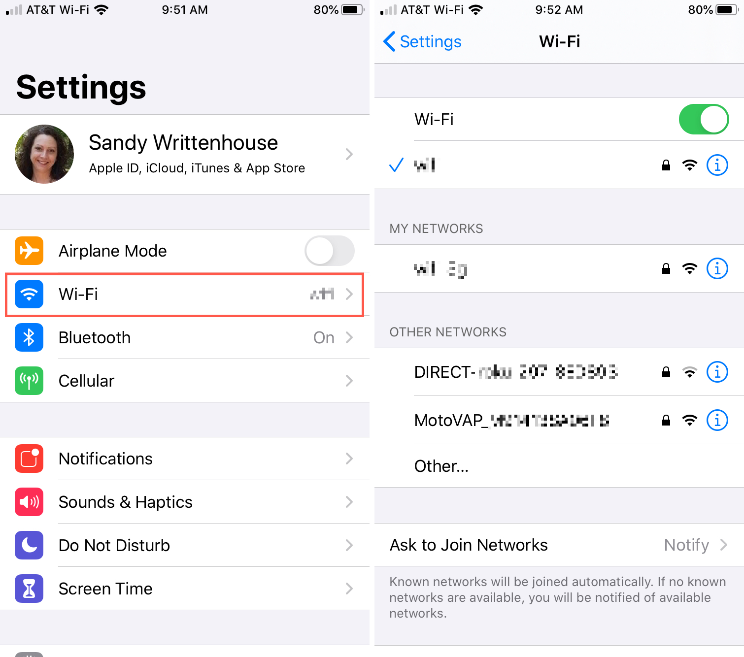 Connect Different Wi-Fi Network iPhone