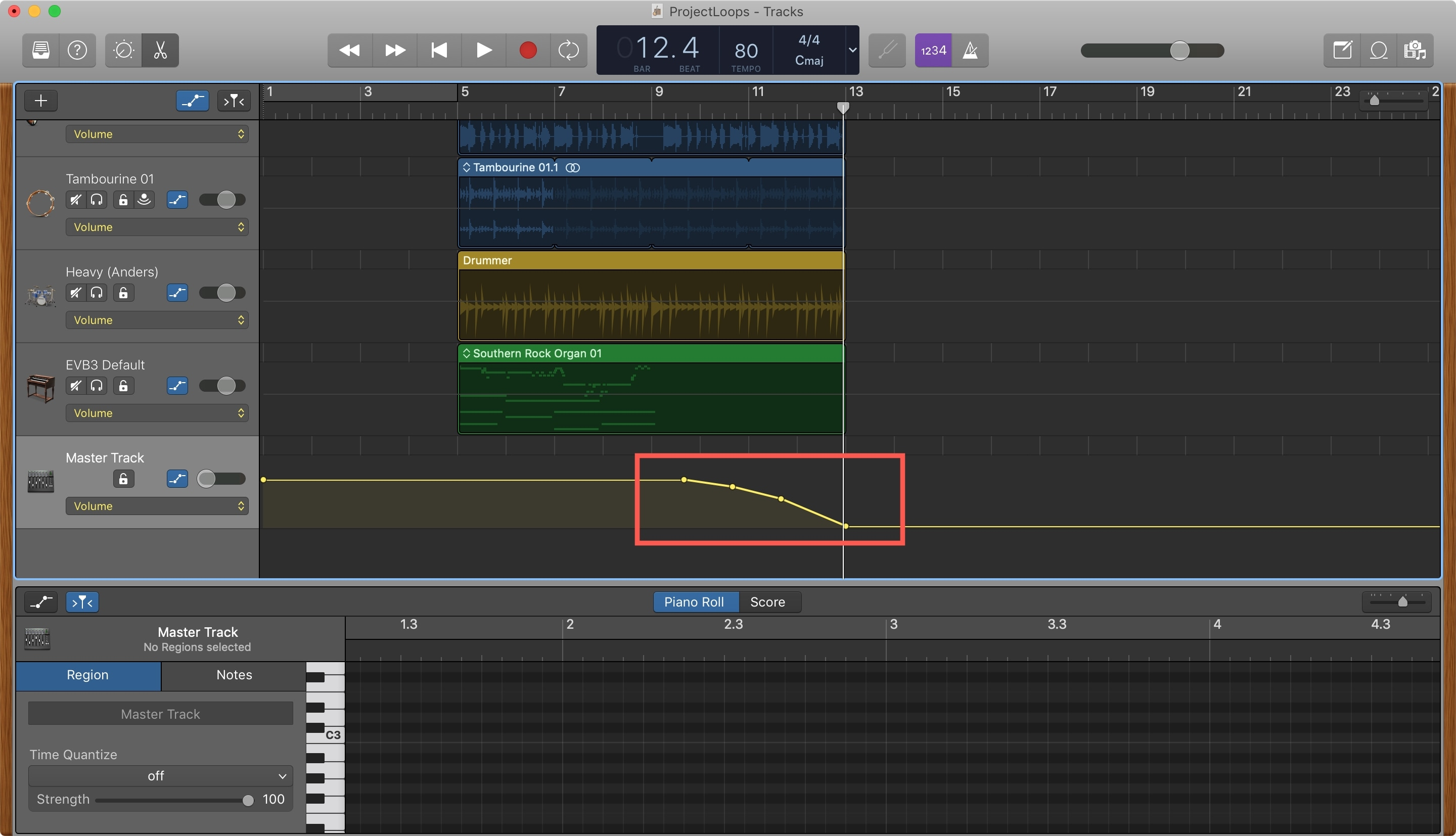 Create Fade Out GarageBand Mac