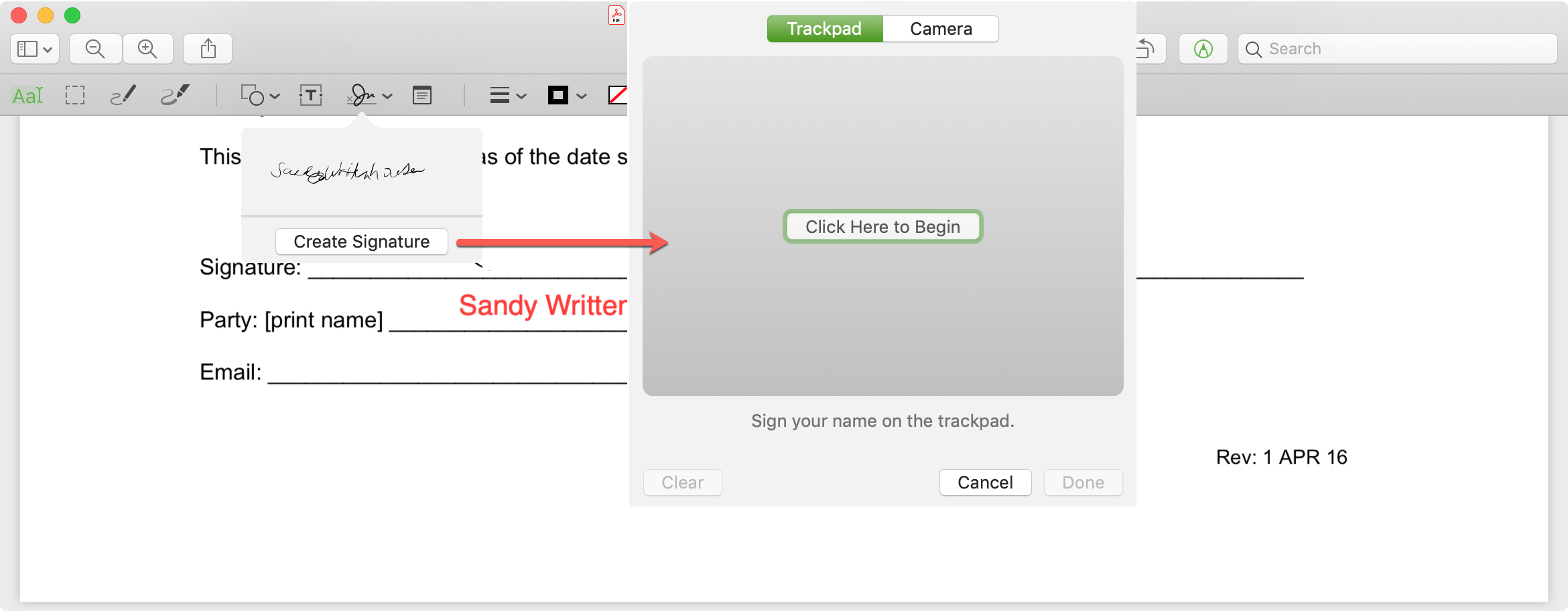 Create Signature in Preview on Mac