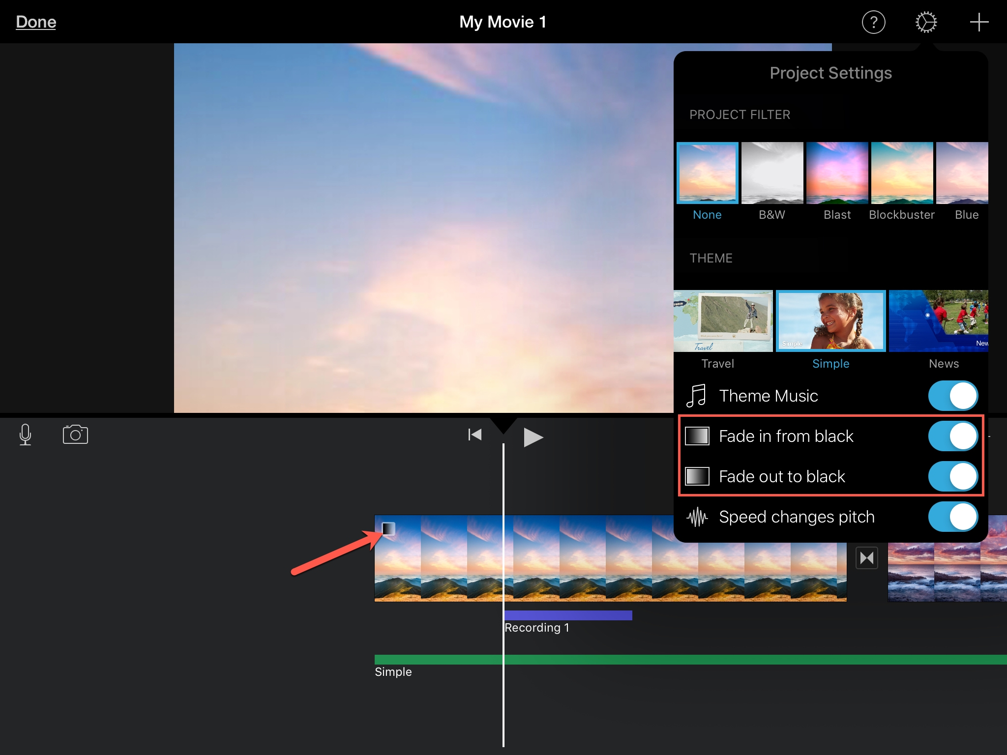 How to use iMovie fade features on Mac and iOS