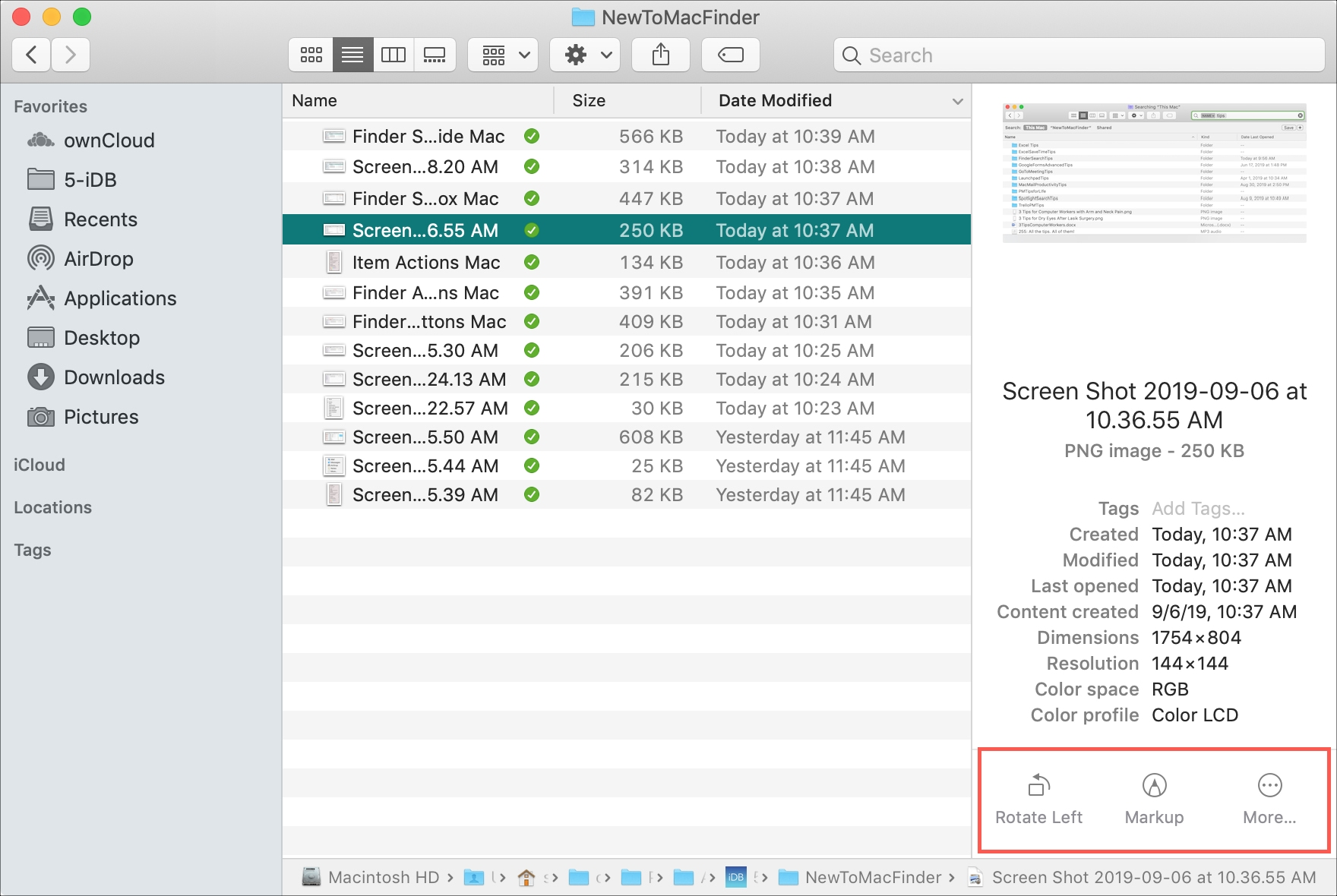Finder Preview Quick Actions Mac