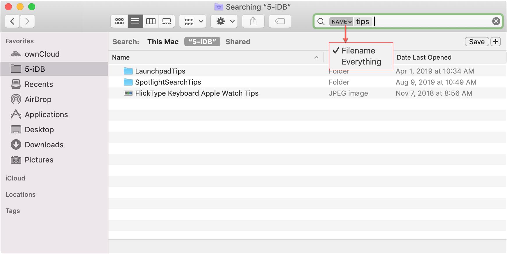 Finder Search Dropdown Mac