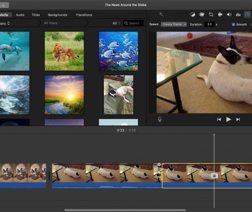 Freeze Frame iMovie Mac