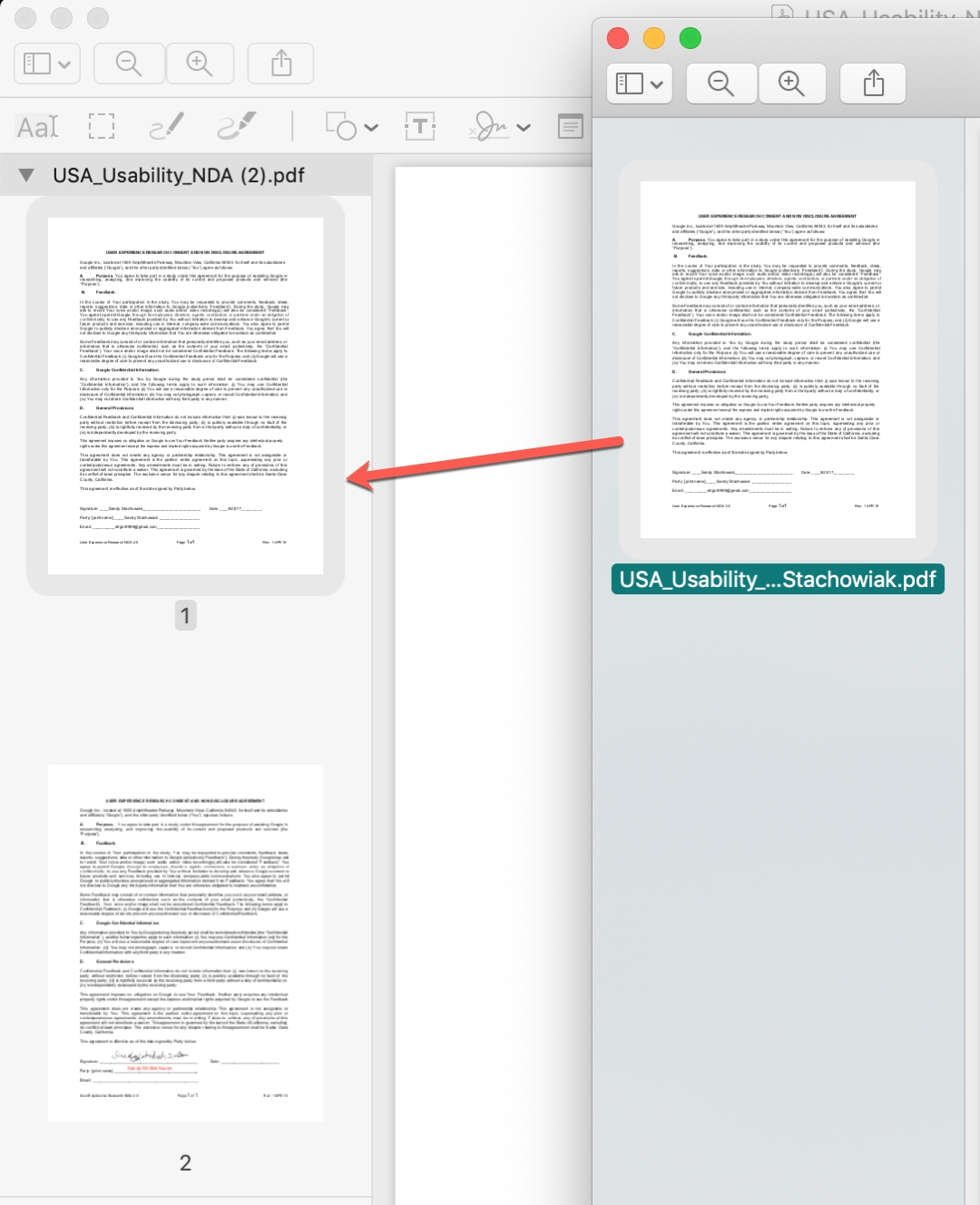 Merge PDF Pages in Preview on Mac