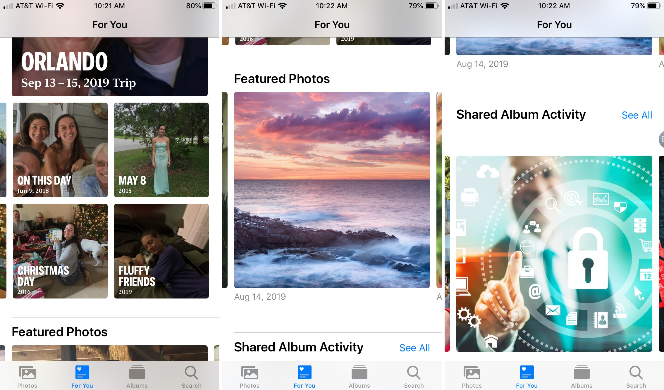 Photos app New For You iPhone