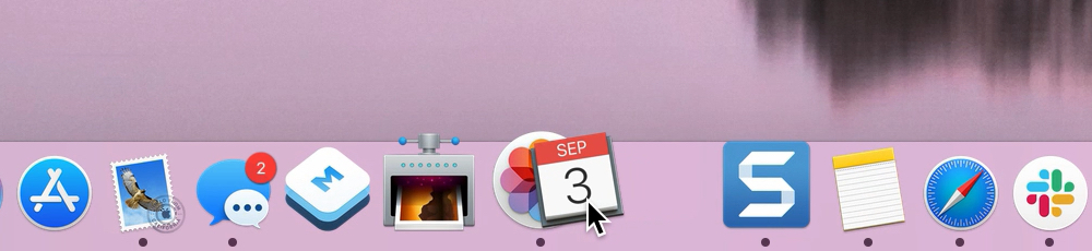 Rearrange App in Dock Mac