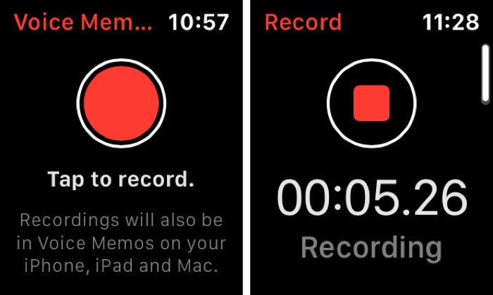 Record Voice Memos on Apple Watch