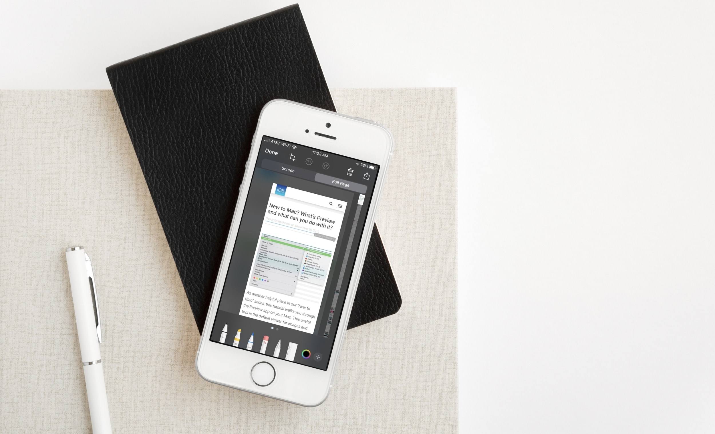 Safari Full Page in Markup iPhone