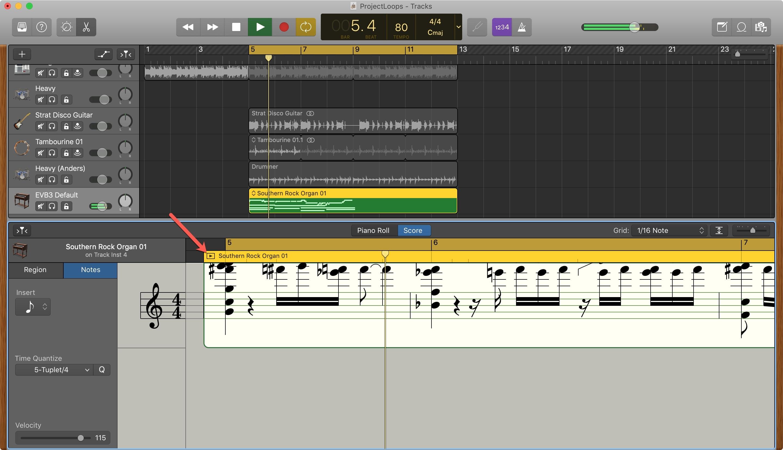 Score Editor Play GarageBand Mac