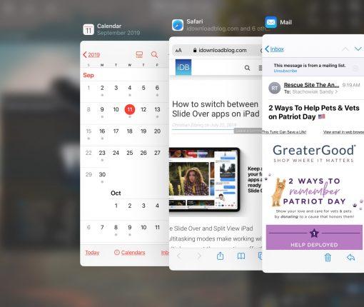 Slide Over iPadOS All Apps