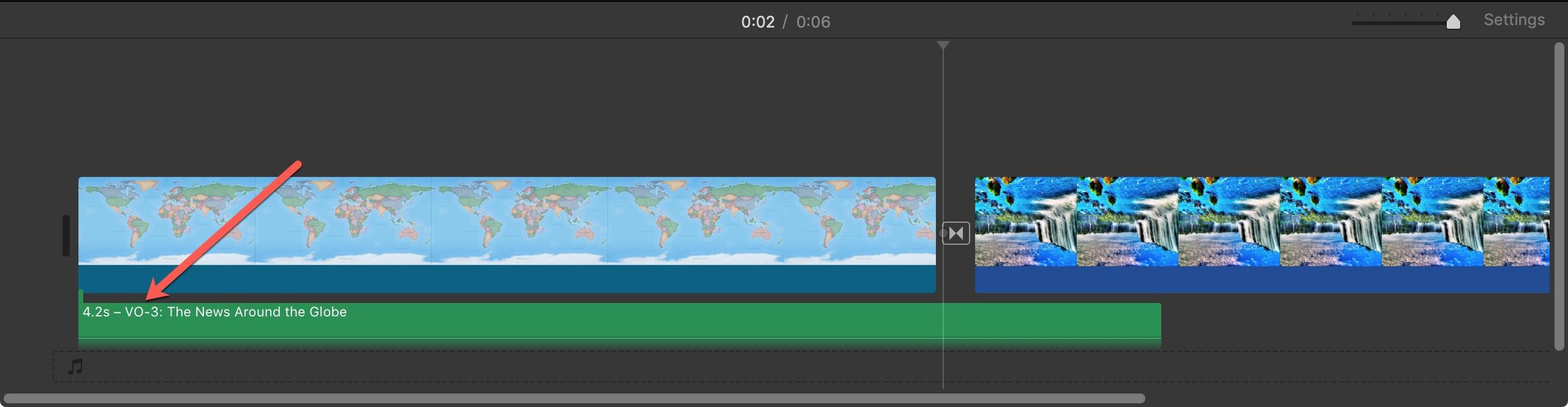 Voiceover Clip iMovie Mac