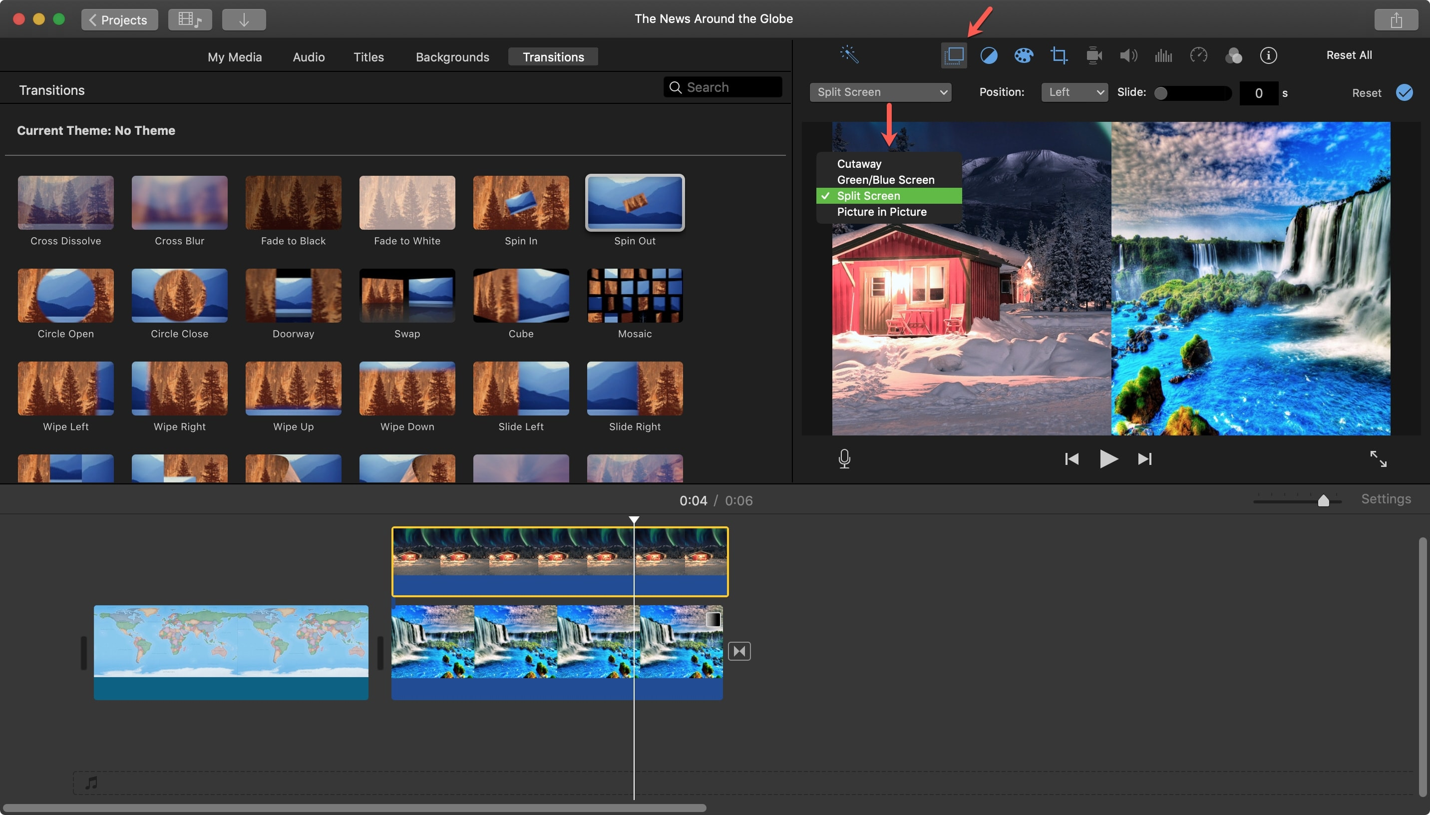 iMovie Split Screen Mac