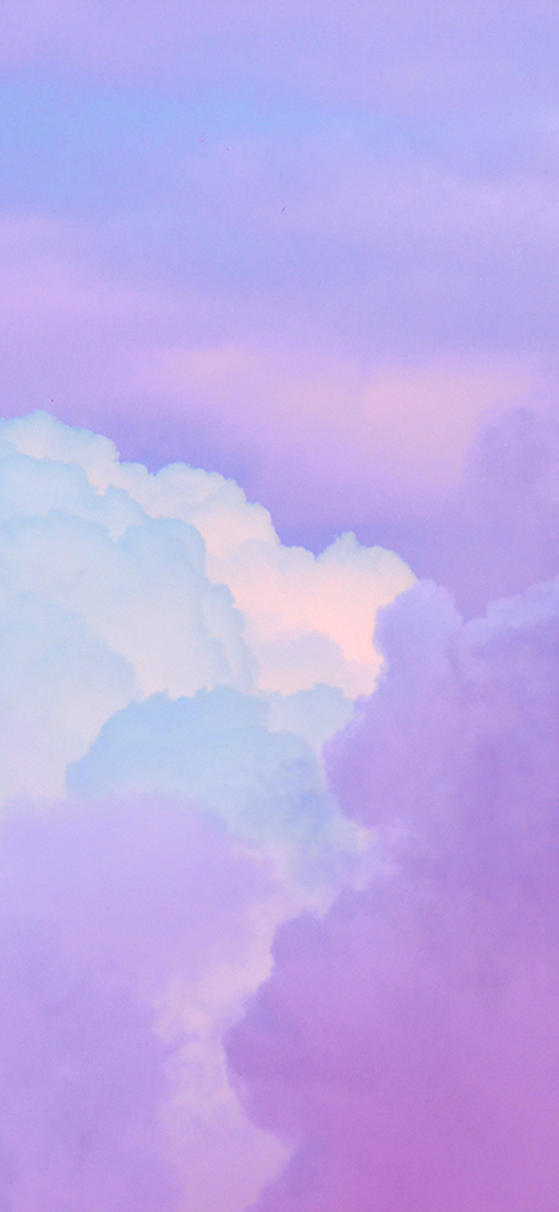iPhone 11 wallpaper cloud-sky-purple-art-iphone-X
