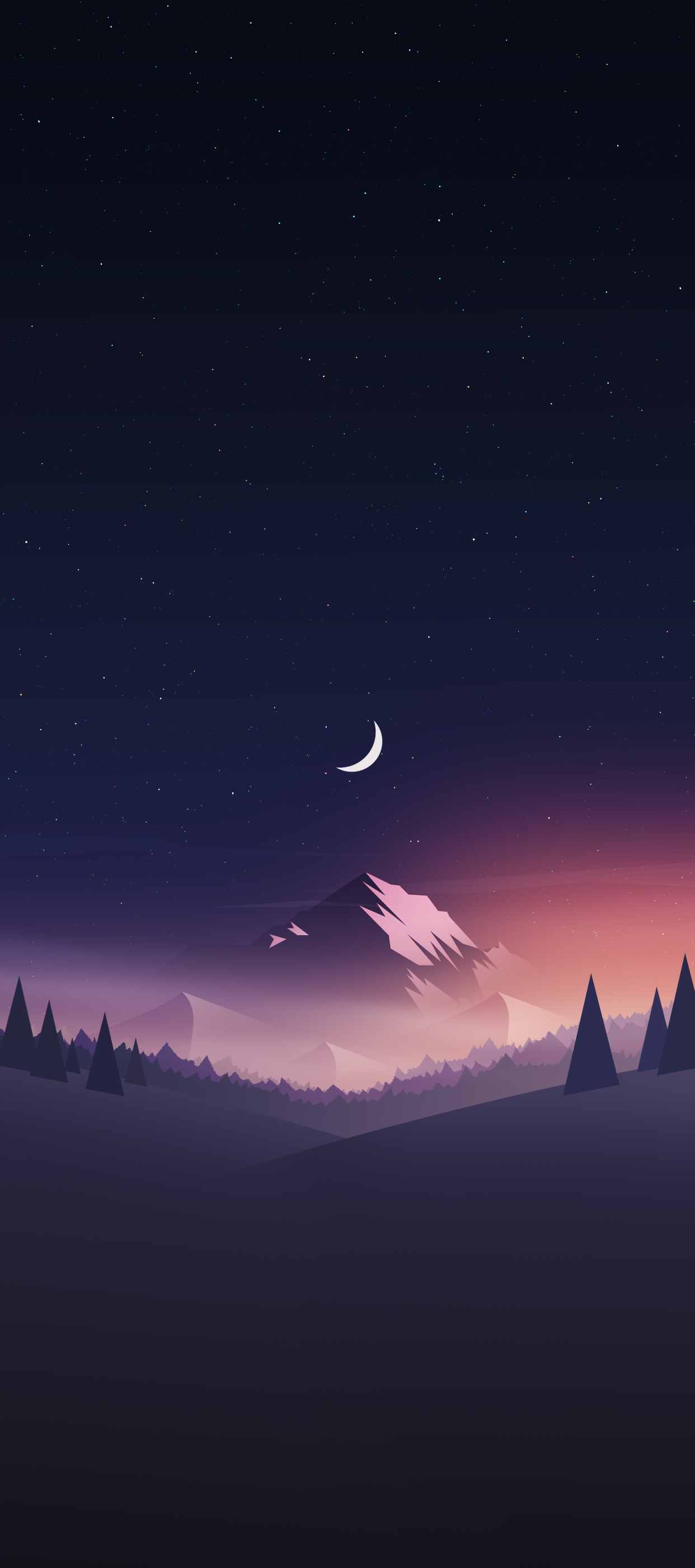 mountain valley iphone wallpaper axellvak night mountain deer