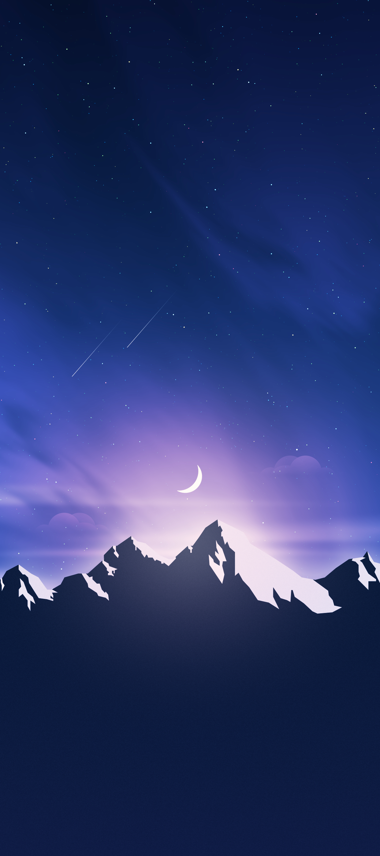 mountain valley iphone wallpaper axellvak night mountain