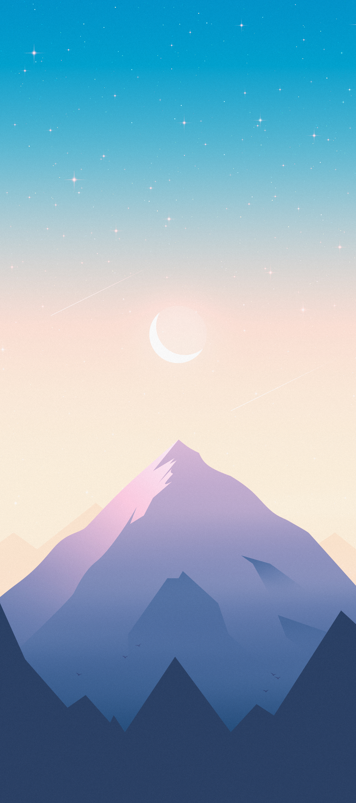 mountain valley iphone wallpaper axellvak sunsrise moon