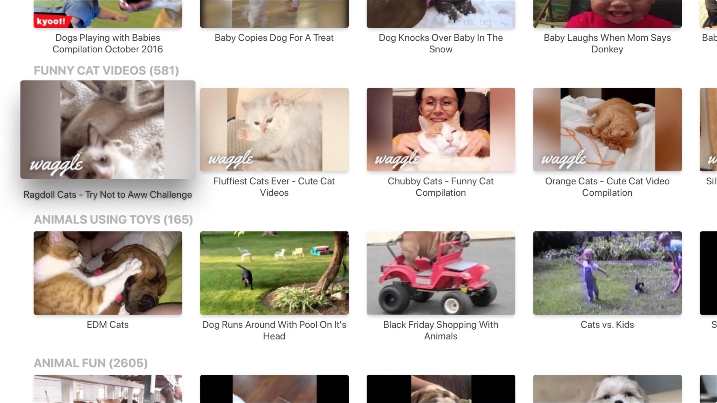 AFV Animals Apple TV