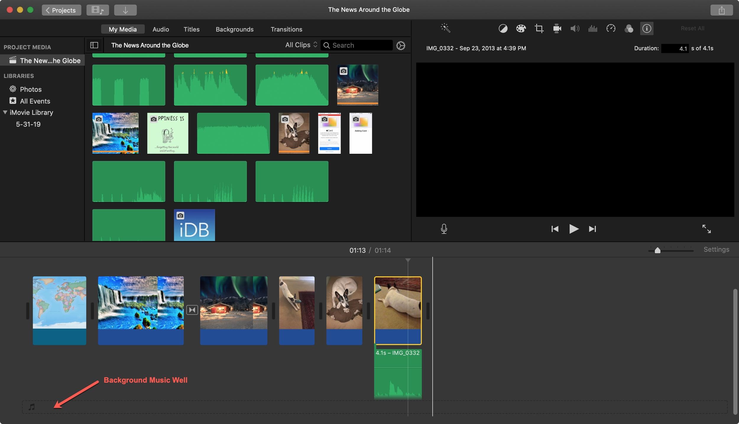 Background Music Well iMovie Mac