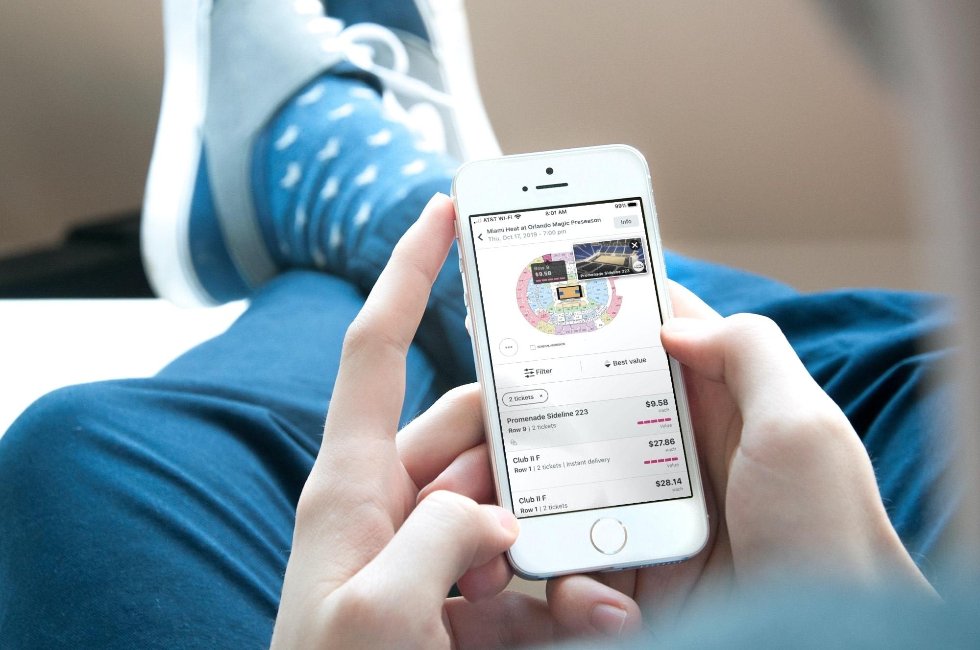Las mejores aplicaciones de entradas para eventos iPhone - StubHub