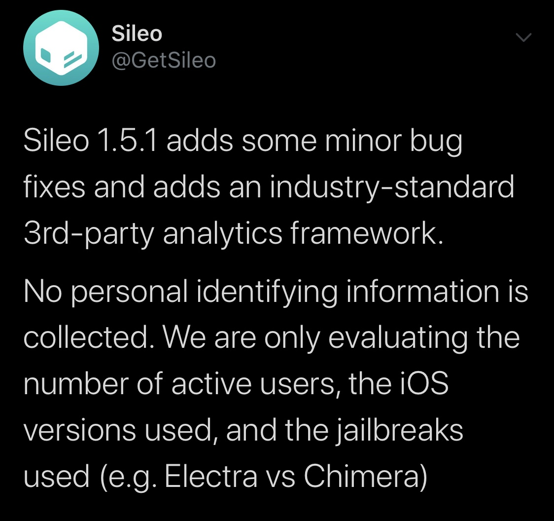 Sileo update statement